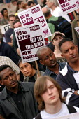 Anti racists demonstrate against the visit of Jean-marie Le Pen to Britain hosted by the BNP. Birmingham. - Jess Hurd - 25-04-2004