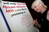 Mandy Telford NUS pledges her commitment to fighting Aids in Africa. Joint lobby of Parliament by UNISON, NUS and ACTSA members who are calling on their MP's to prioritise Aids funding in the current... - Jess Hurd - 27-04-2004