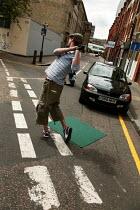 Shoreditch Urban Golf Open Tournament, East London. - Jess Hurd - 2000s,2004,ACE,alternative,cities,city,Club,clubs,culture,enjoying,enjoyment,fun,funny,game,games,Golf,golfer,Hackney,hobbies,hobby,hobbyist,Humor,humorous,humour,ironic,irony,JOKE,JOKES,joking,Leisur
