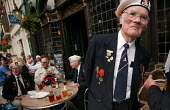 Member of the Arctic Convoy veterans' associations who marched down Whitehall to demand medal recognition for his role in the Second World War. London. - Jess Hurd - 15-05-2004
