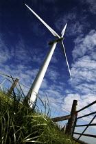 Powergen Wind Turbines on a Windfarm. Tal-Y-Bont, Powys, Wales. - Jess Hurd - 05-06-2004