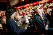 Kevin Curran GMB during a card vote for rail nationalisation. Labour Party Conference. Brighton. - Jess Hurd - 2000s,2004,democracy,GMB,NATIONALISATION,nationalise,Party,people,pol politics,Re Nationalise,renationalise,transport,transportation,transporting,UK,vote,VOTES,VOTING