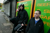 Young lads from Lower Broughton. Youth feel they are being stoppd unfairly in the street by the police when they are wearing a hood. City of Salford. - Jess Hurd - ,2000s,2004,adolescence,adolescent,adolescents,adult,adults,and,anti social behavior,anti social behaviour,anti socialanti social behavior,antisocial,antisocial behaviour,antisocial behaviour order,AS