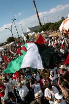 World Social Forum, Porto Alegre Brazil. Free Palestine demonstration through the forum. - Jess Hurd - 28-01-2005