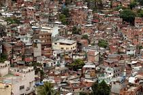 Rocinha Favela, Rio De Janeiro where approx 50,000 people live in slum housing, Brazil. - Jess Hurd - 06-02-2005