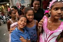 Carnival in Rocinha Favela, Rio De Janeiro where approx 50,000 people live in slum housing, Brazil. - Jess Hurd - 08-02-2005