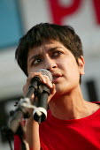 Shami Chakrabarti, director of Liberty speaks at the Stop the War Coalition Bring the troops Home demonstration calling for an end to the occupation of Iraq. Supported by CND and MAB. London. - Jess Hurd - 2000s,2005,activist,activists,adult,adults,anti war,Antiwar,BME black minority ethnic,CAMPAIGN,Campaign for nuclear disarmament,campaigner,campaigners,CAMPAIGNING,CAMPAIGNS,CND,Coalition,DEMONSTRATING