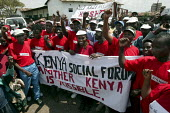 Kenya Social Forum, Huruma slum. ActionAid Get on Board campaign. The Joburg to G8 bus is collecting messages to take to the world leaders at the G8 Summit in Gleneagles, Scotland on 68 July 2005. Nai... - Jess Hurd - 04-05-2005