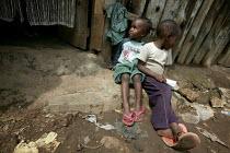 Kibera slum - the largest slum in Africa. Nairobi, Kenya. - Jess Hurd - 04-05-2005