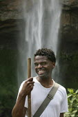 Luke Sutherland writer and musician at Sipi Falls, Mt Elgon. ActionAid Get on Board campaign. The Joburg to G8 bus is collecting messages to take to the world leaders at the G8 Summit in Gleneagles, S... - Jess Hurd - 01-05-2005