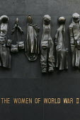 Memorial paying tribute to the women's war effort in World War II. The sculpture by John Mills was part of the events celebrating the 60th anniversary of the end of the Second World War. Whitehall, Lo... - Jess Hurd - 28-07-2005