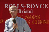 Jerry Hicks Amicus convenor at Rolls Royce speaking at a rally for his reinstatement. Bristol 2005 - Jess Hurd - 2000s,2005,activist,activists,against,Amicus,CAMPAIGN,campaigner,campaigners,CAMPAIGNING,CAMPAIGNS,DEMONSTRATING,demonstration,DEMONSTRATIONS,dispute,disputes,INDUSTRIAL DISPUTE,member,member members,