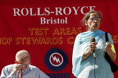 Gate Gourmet worker speaks at a rally for the reinstatement of Jerry Hicks Amicus convenor at Rolls Royce Bristol. - Jess Hurd - 2000s,2005,Amicus,Asian,Asians,BAME,BAMEs,Black,BME,bmes,cities,city,dispute,disputes,diversity,ethnic,ethnicity,INDUSTRIAL DISPUTE,member,member members,members,minorities,minority,people,poc,rallies