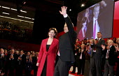 Tony Blair PM speaks at Labour Party Conference. 2005. - Jess Hurd - 2000s,2005,applauding,applause,blair,cherie,ovation,Party,pol politics,SPEAKER,SPEAKERS,speaking,speech,Tony Blair,UK