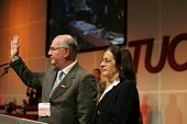 Carlos Rodrigues CUT fraternal speaker at the TUC from Colombia. - Jess Hurd - 14-09-2005