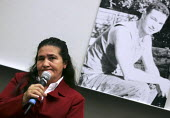 The mother of Jean Charles de Menezes speaks at a family campaign meeting at the LSE, London. - Jess Hurd - 10-10-2005