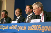 Jose Manuel Barroso, President of The European Commission, David Blunkett MP and John Monks ETUC at an Informal Tripartite Social Summit for growth and employment.The Summit is part of the UK's Presid... - Jess Hurd - 24-10-2005