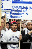Rally against incitement & Islamophobia theTrafalgar Square rally was called in the wake of the cartoon controversy. London. - Jess Hurd - 2000s,2006,activist,activists,against,Association,ASSOCIATIONS,bigotry,BME black minority ethnic,Bri,CAMPAIGN,campaigner,campaigners,CAMPAIGNING,CAMPAIGNS,cartoon,CARTOONS,Danish,DEMONSTRATING,demonst