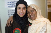 Mother and daughter team, elected Respect councillors Rania Khan and Lutfa Begum. Rania is the youngest councillor in the country.Tower Hamlets local election count. The Respect party won 12 seats in... - Jess Hurd - 05-05-2006