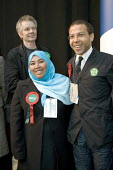Dilwara Begum and Paul Fredericks, Weavers Ward. Tower Hamlets local election count. The Respect party won 12 seats in total. East London. - Jess Hurd - 05-05-2006