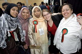 Respect women candidates. Tower Hamlets local election count. The Respect party won 12 seats in total. East London. - Jess Hurd - 05-05-2006
