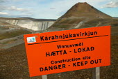 Construction of Europes largest dam project at Karahnjukar. Icelands hydroelectric potential is being expoited by multinational corporations and the dams are designated solely to generate energy for a... - Jess Hurd - 25-07-2006