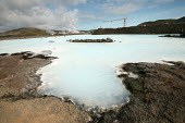 The Blue Lagoon a natural geothermal seawater spa, created by the outlet water from the power station in Svartsengi. Iceland. When all practical extraction of the heat has occurred by heat exchange, t... - Jess Hurd - 26-07-2006
