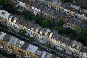 Dense street housing in West London. Views over West London from a hot air balloon. - Jess Hurd - 2000s,2006,ACE,Aerial View,architecture,balloon,balloons,building,buildings,cities,city,cityscape,cityscapes,culture,EBF Economy,highway,house,houses,housing,housing Market,London,outdoors,outside,res