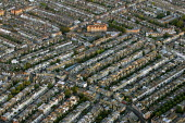 Dense street housing in South West London. Views over London from a hot air balloon flight. - Jess Hurd - 2000s,2006,ACE,Aerial View,architecture,balloon,balloons,building,buildings,cities,city,cityscape,cityscapes,culture,EBF Economy,highway,house,houses,housing,housing Market,London,outdoors,outside,res