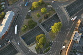 Junction road layout over the A3. Views over West London from a hot air balloon. - Jess Hurd - 08-08-2006