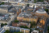 Royal Albert Hall, West London from a hot air balloon. - Jess Hurd - 2000s,2006,ACE,Aerial View,architecture,arts,balloon,balloons,building,buildings,cities,city,cityscape,cityscapes,culture,EBF Economy,highway,London,outdoors,outside,road,roads,scene,scenes,skyline,sk