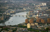View of the River Thames from a hot air balloon over West London. - Jess Hurd - 2000s,2006,ACE,Aerial View,architecture,arts,balloon,balloons,building,buildings,cities,city,cityscape,cityscapes,culture,EBF Economy,house,houses,housing,housing Market,outdoors,outside,residential,R
