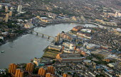 View of the River Thames from a hot air balloon over West London. - Jess Hurd - 2000s,2006,ACE,Aerial View,architecture,arts,balloon,balloons,building,buildings,cities,city,cityscape,cityscapes,culture,EBF Economy,highway,housing,outdoors,outside,River,road,roads,skyline,skylines