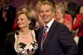 Prime Minister Tony Blair and Cherie Blair at his last Labour Party Conference as leader. Manchester 2006. - Jess Hurd - ,2000s,2006,Conference,conferences,Labour Party,Manchester,Minister,Party,POL,POL Politics,political,POLITICIAN,POLITICIANS,Politics,SPEAKER,SPEAKERS,speaking,SPEECH