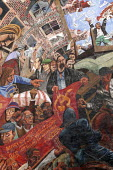 Detail of the Cable Street mural on the 70th Anniversary of the Battle of Cable Street when the people of the East End of London united in defiance of Sir Oswald Mosley and the British Union of Fascis... - Jess Hurd - 2000s,2006,ace art arts,activist,activists,against,Anniversary,anti,anti semitic,Anti Semitism,antisemitic,Antisemitism,bigotry,Blackshirts,BME Black Minority Ethnic,bme minority ethnic,CAMPAIGN,campa