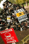 Handicap International UK urges support for victims of cluster bombs in Southern Lebanon and across the world by supporting the campaign to Ban Cluster Bombs. A pyramid of shoes represent the many kil... - Jess Hurd - 14-10-2006