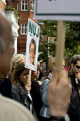 One week after the assassination of the Russian journalist  Anna Politkovskaya, the NUJ holds a protest at the Russian Embassy. West London. - Jess Hurd - 14-10-2006