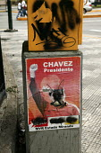 Hugo Chavez Presidential election poster defaced by the opposition. Caracas, Bolivarian Republic of Venezuela. - Jess Hurd - 2000s,2006,americas,Bolivarian,chavista,chavistas,DEMOCRACY,election,elections,Latin America,left,left wing,leftwing,movement,pol politics,poster,POSTERS,poters,reform,REFORMING,reformist,reforms,revo