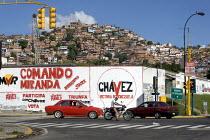Pro Hugo Chavez graffiti in Petare the largest Barrio in Latin America. Presidential election campaign, Caracas, Bolivarian Republic of Venezuela. - Jess Hurd - 2000s,2006,activist,activists,against,americas,Bolivarian,CAMPAIGN,campaigner,campaigners,CAMPAIGNING,CAMPAIGNS,chavista,chavistas,DEMONSTRATING,demonstration,DEMONSTRATIONS,graffiti,graffito,Latin,La