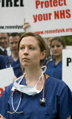 Doctors and NHS staff rally outside Parliament to protest against reforms to their medical training which they claim will result in thousands of doctors being trained with no job to await them. Organi... - Jess Hurd - 2000s,2007,activist,activists,against,amicus,CAMPAIGN,campaigner,campaigners,CAMPAIGNING,CAMPAIGNS,claim,DEMONSTRATING,DEMONSTRATION,DEMONSTRATIONS,doctor,doctors,female,health,junior,medical,member,m