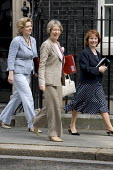Ruth Kelly, Harriet Harman and Hazel Blears leave a cabinet meeting on the day Tony Blair resigns. Downing Street. London. - Jess Hurd - 2000s,2007,female,Labour Party,leave,meeting,MEETINGS,MP,people,person,persons,POL Politics,ten,woman,women