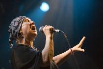 Singer Carol Grimes celebrating 30 years of Rock Against Racism. Love Music Hate Racism Gig. Spice Festival. Hackney Empire, London. - Jess Hurd - 19-07-2007