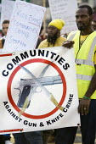 Families march against gun crime from Hackney - Tottenham, London. - Jess Hurd - 2000s,2007,activist,activists,against,BME Black Minority Ethnic,CAMPAIGN,campaigner,campaigners,CAMPAIGNING,CAMPAIGNS,cities,city,crime,DEMONSTRATING,demonstration,DEMONSTRATIONS,gun,guns,Hackney,inne