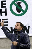 Mark Thomas political campaigner and comedian. Stop the War demonstration on the opening day of Parliament, London. - Jess Hurd - 2000s,2007,activist,activists,anti war,CAMPAIGN,campaigner,campaigners,CAMPAIGNING,CAMPAIGNS,DEMONSTRATING,demonstration,DEMONSTRATIONS,opening,Parliament,peace,protest,PROTESTER,PROTESTERS,protesting