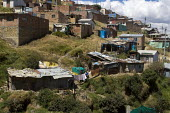 Cuidad Bolivar, slum area south of Bogota growing fast with displaced people from the countryside. Colombia. - Jess Hurd - 07-02-2008