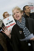 Gail Cartmail Unite speaks at a protest in support of the victims of violence in Colombia. Day of action, called for by the National Movement of Victims, supported by trades unions and Justice for Col... - Jess Hurd - 06-03-2008
