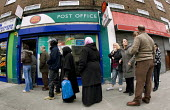 Devons Road Post Office queue, the Post Office is facing closure. Tower Hamlets, East London. - Jess Hurd - 31-03-2008