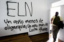 ELN graffiti, a Colombian Guerrilla group. Universidad Nacional Bogota, Colombia. - Jess Hurd - 08-02-2008