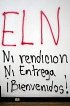 ELN graffiti, a Colombian Guerrilla group. Universidad Nacional Bogota, Colombia - Jess Hurd - 08-02-2008