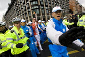 Chinese security attempt to obstruct the media as Tibet demonstrators protest against the Olympic Flame which was part of the global Olympic Torch Relay in the run up to the Beijing Olympic Games. Dow... - Jess Hurd - 06-04-2008